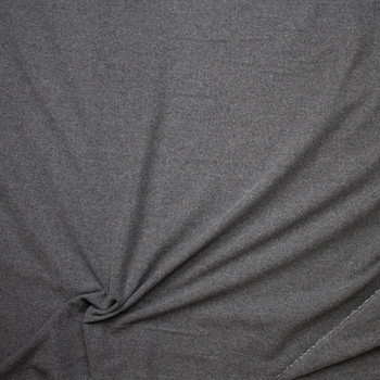Charcoal Heather Lightweight Solid Wool Coating Fabric By The Yard - Wide shot