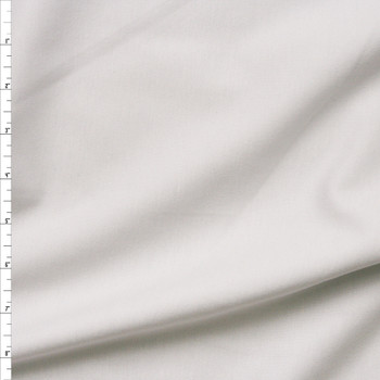 White Heavy Midweight Stretch Ponte  Fabric By The Yard