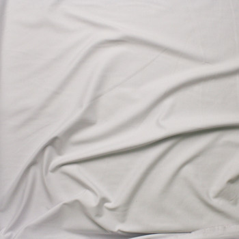 White Heavy Midweight Stretch Ponte  Fabric By The Yard - Wide shot