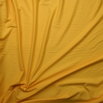 Bright Yellow Heavy Midweight Stretch Ponte  Fabric By The Yard - Wide shot