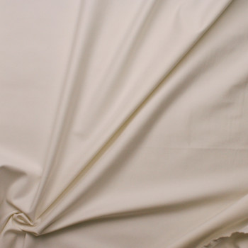 Offwhite Heavyweight Stretch Ponte Fabric By The Yard - Wide shot