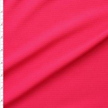 Neon Pink Solid Braided Look Liverpool Knit Fabric By The Yard