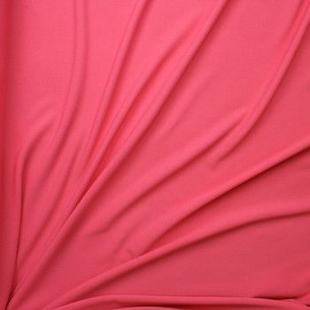 Guava Pink Solid Braided Look Liverpool Knit Fabric By The Yard - Wide shot