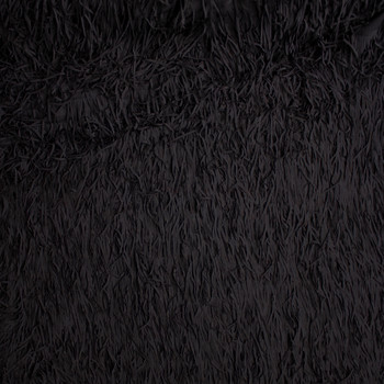 "Black 5"" Layered Fringe Fabric Fabric By The Yard - Wide shot"