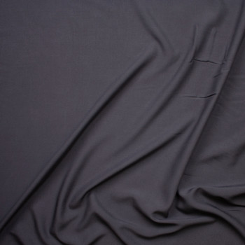 Charcoal Grey Rayon Challis Fabric By The Yard - Wide shot