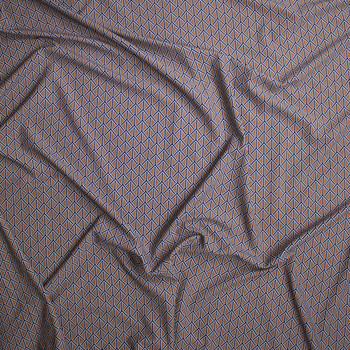 Black, White, and Brown Braided Geometric Nylon/Spandex Fabric By The Yard - Wide shot