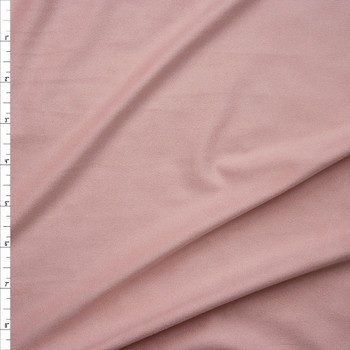 Blush Lightweight Stretch Suede Fabric By The Yard