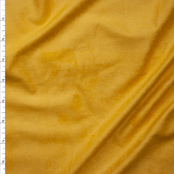 Mustard Lightweight Stretch Suede Fabric By The Yard