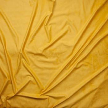 Mustard Lightweight Stretch Suede Fabric By The Yard - Wide shot