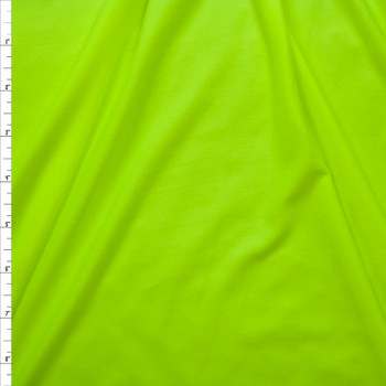 Neon Yellow Double Brushed Poly Spandex Knit Fabric By The Yard