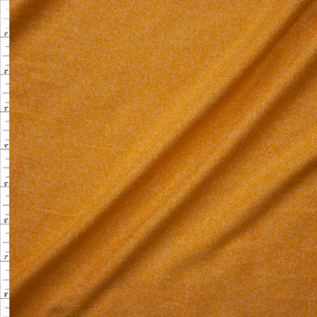 Mustard Heather Double Brushed Poly Spandex Knit Fabric By The Yard