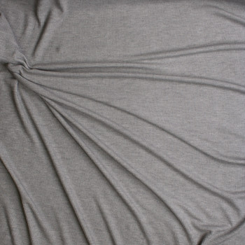 Light Grey Heather Stretch Micro Waffle Knit Fabric By The Yard - Wide shot