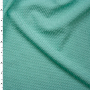 Solid Mint Green Bullet Texture Liverpool Knit Fabric By The Yard