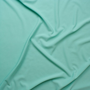 Solid Mint Green Bullet Texture Liverpool Knit Fabric By The Yard - Wide shot
