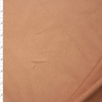 Tan Midweight 4-way Stretch Cotton French Terry Fabric By The Yard