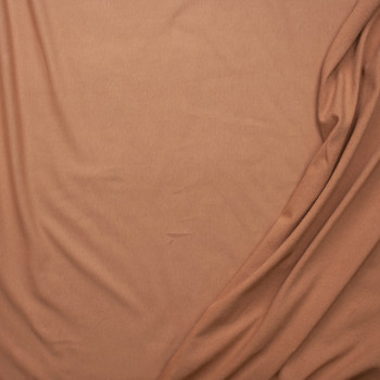 Tan Midweight 4-way Stretch Cotton French Terry Fabric By The Yard - Wide shot