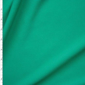 Solid Spearmint Bullet Textured Liverpool Knit Fabric By The Yard