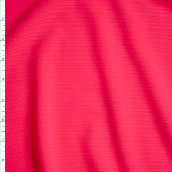 Neon Pink Textured Rib Liverpool Knit Fabric By The Yard