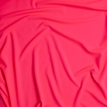 Neon Pink Textured Rib Liverpool Knit Fabric By The Yard - Wide shot