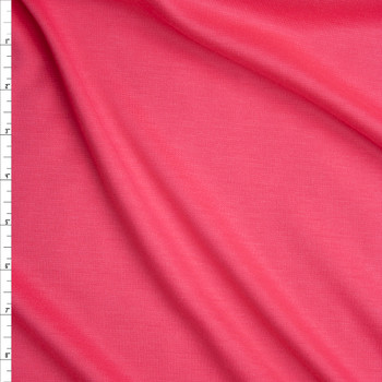Bright Bubblegum Pink Solid Ponte De Roma Fabric By The Yard