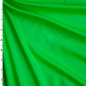 Neon Green Solid Ponte De Roma Fabric By The Yard