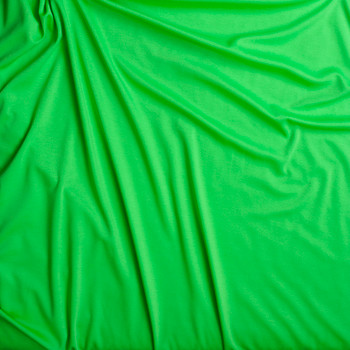 Neon Green Solid Ponte De Roma Fabric By The Yard - Wide shot