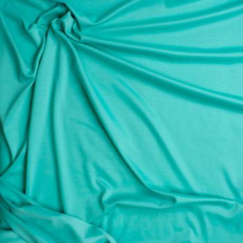 Aqua Solid Ponte De Roma Fabric By The Yard - Wide shot