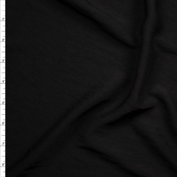 Black Soft Brushed Polyester Challis Fabric By The Yard