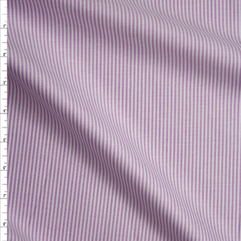 Lavender and White Vertical stripes Cotton Oxford Cloth from 'Brooks Brothers' Fabric By The Yard