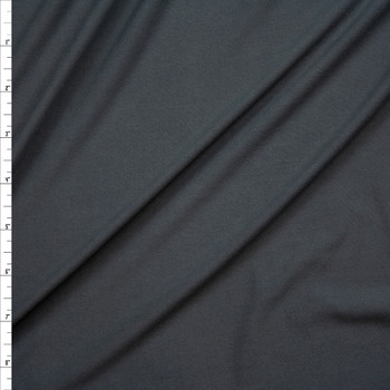 Charcoal Grey Double Brushed Poly/Spandex Knit Fabric By The Yard