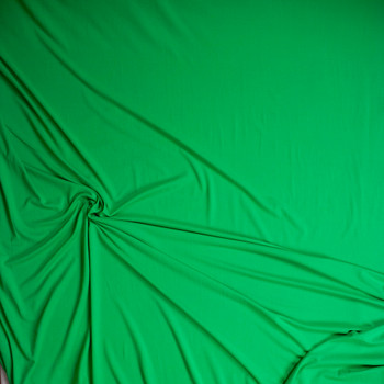 Bright Green Double Brushed Poly/Spandex Knit Fabric By The Yard - Wide shot