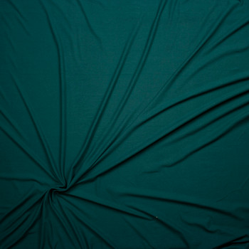 Emerald Green Double Brushed Poly/Spandex Knit Fabric By The Yard - Wide shot