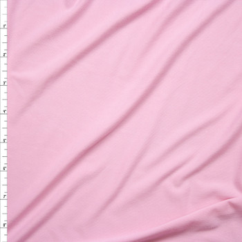 Baby Pink Double Brushed Poly/Spandex Knit Fabric By The Yard