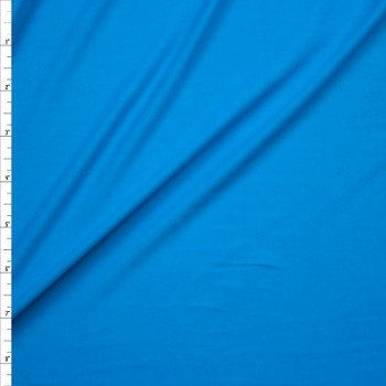 Turquoise Double Brushed Poly/Spandex Knit Fabric By The Yard
