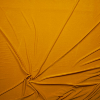 Mustard Sand Washed Poly/Modal Jersey Knit Fabric By The Yard - Wide shot