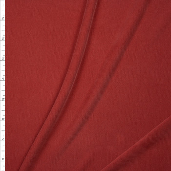 Muted Red Sand Washed Poly/Modal Jersey Knit Fabric By The Yard