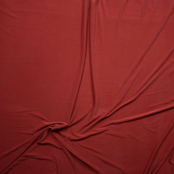 Muted Red Sand Washed Poly/Modal Jersey Knit Fabric By The Yard - Wide shot
