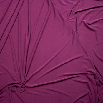 Magenta Sand Washed Poly/Modal Jersey Knit Fabric By The Yard - Wide shot
