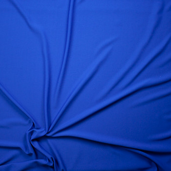 Solid Cobalt Liverpool Knit Fabric By The Yard - Wide shot