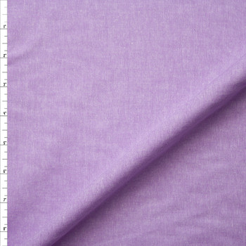 Lavender Cotton Chambray Fabric By The Yard