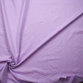 Lavender Cotton Chambray Fabric By The Yard - Wide shot