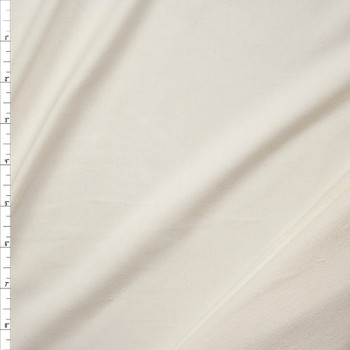 Offwhite Midweight Stretch Bamboo French Terry Fabric By The Yard