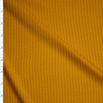 Mustard Soft Waffle Knit Fabric By The Yard