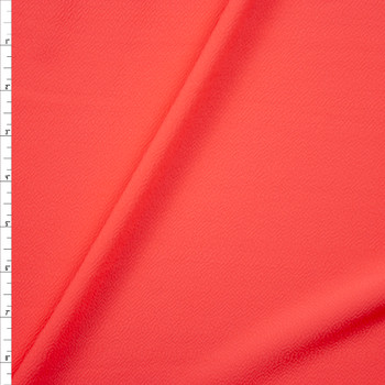 Solid Neon Pink Crepe Look Liverpool Knit Fabric By The Yard