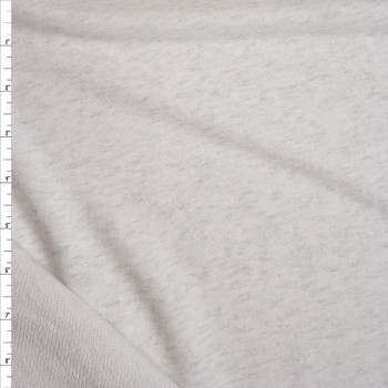 Ash Grey Heather Soft Rayon French Terry Fabric By The Yard