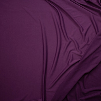 Plum Poly/Rayon French Terry Fabric By The Yard - Wide shot