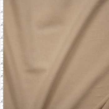 Light Tan Midweight Stretch Cotton French Terry Fabric By The Yard
