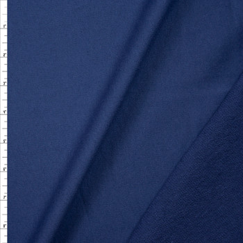 Muted Navy Lightweight Cotton French Terry Fabric By The Yard