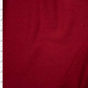 Deep Red Lightweight Cotton French Terry Fabric By The Yard
