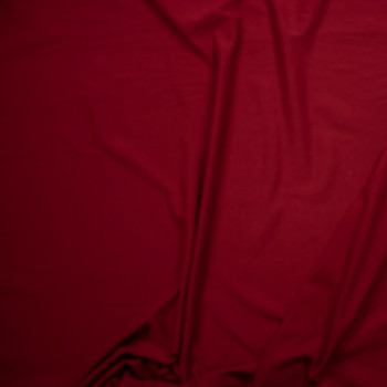 Deep Red Lightweight Cotton French Terry Fabric By The Yard - Wide shot